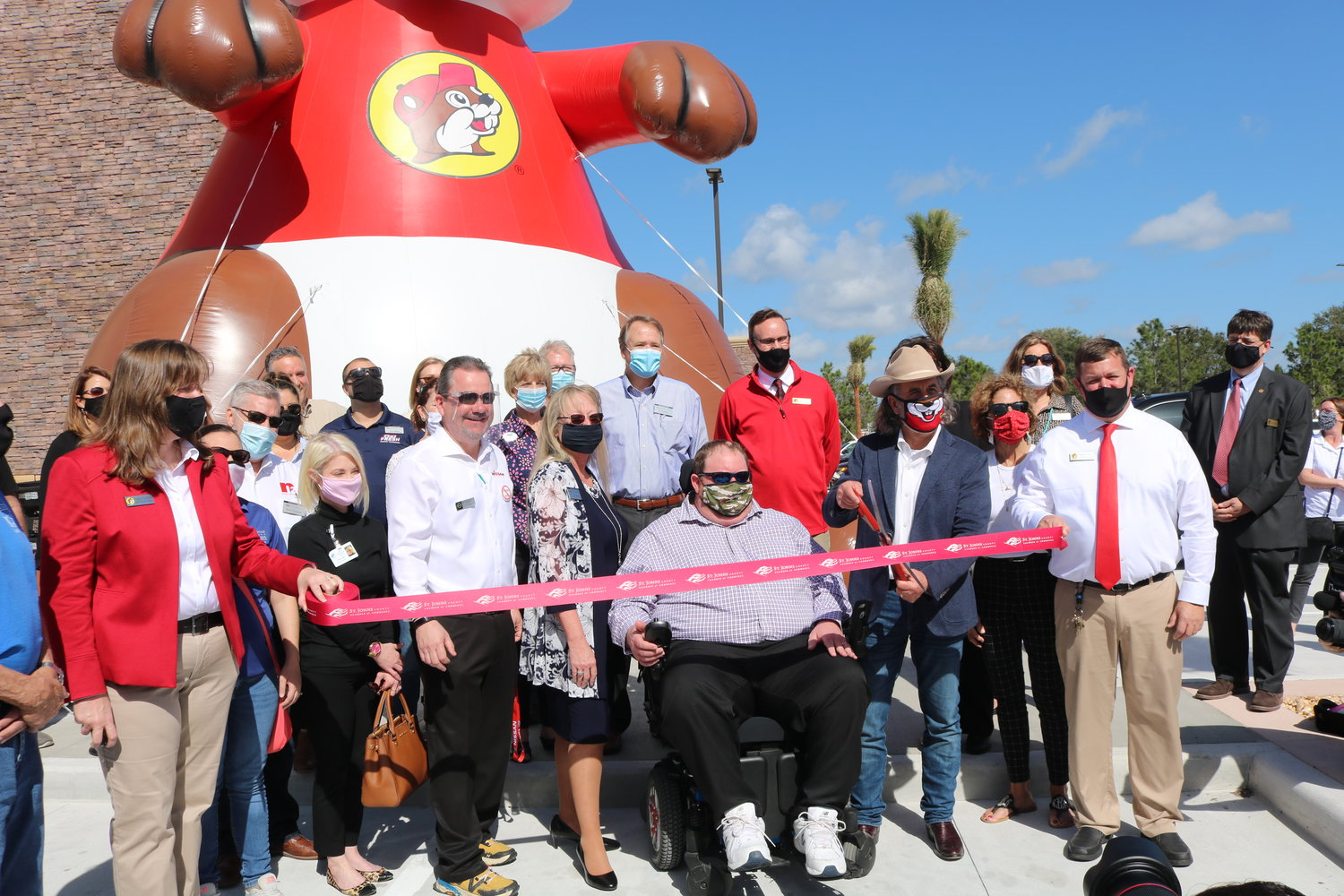 The ribbon was cut Monday at Buc-ee's World Golf Village store.