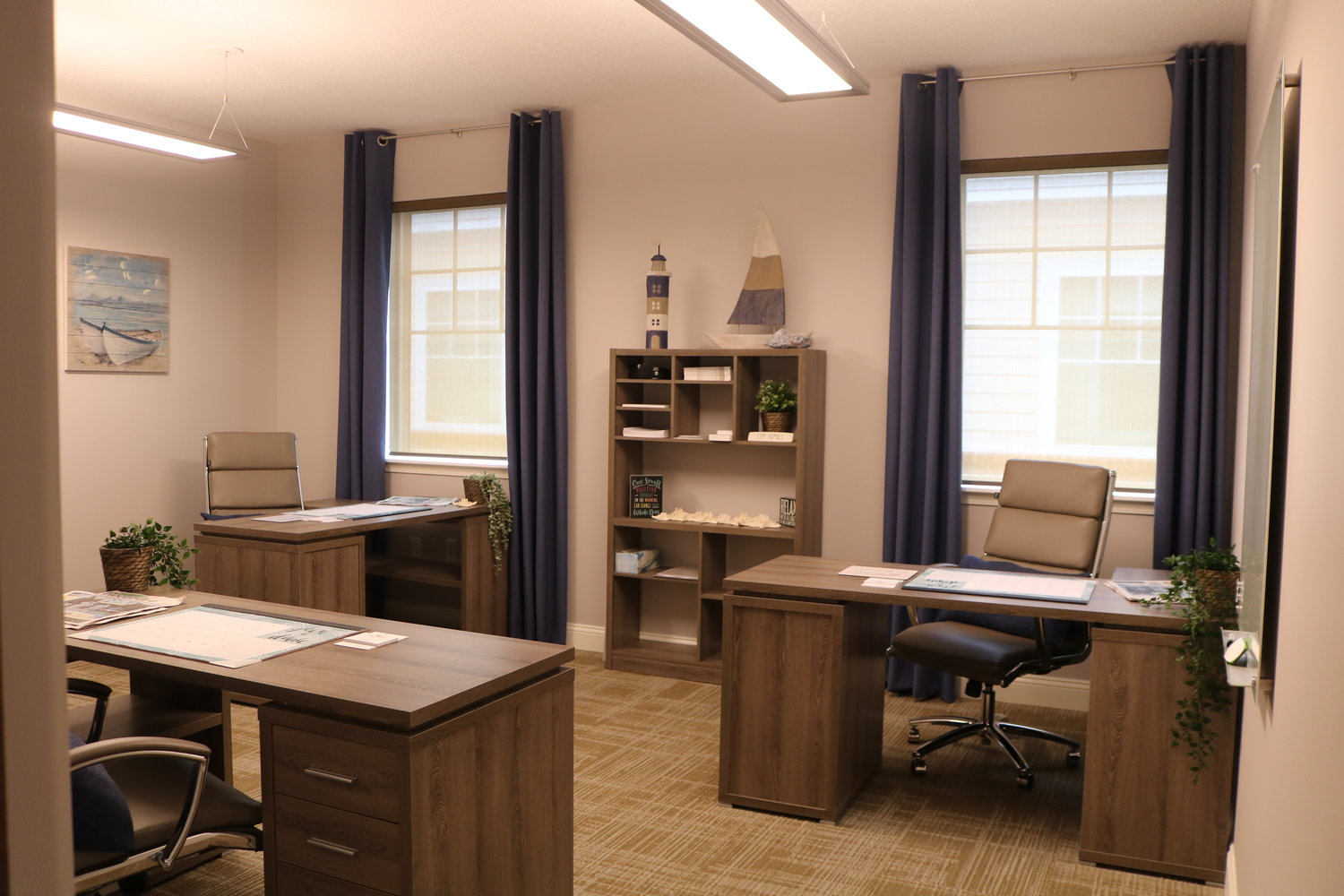A look inside the business offices of Driftwood Realty Group.