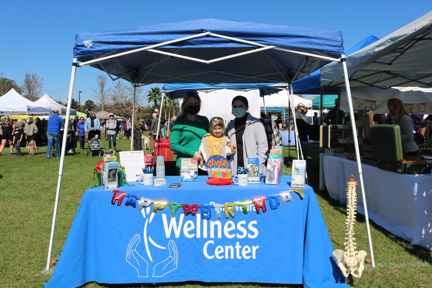 The Ponte Vedra Wellness Center celebrates its fifth anniversary of its Nocatee location during the Nocatee Farmers Market.