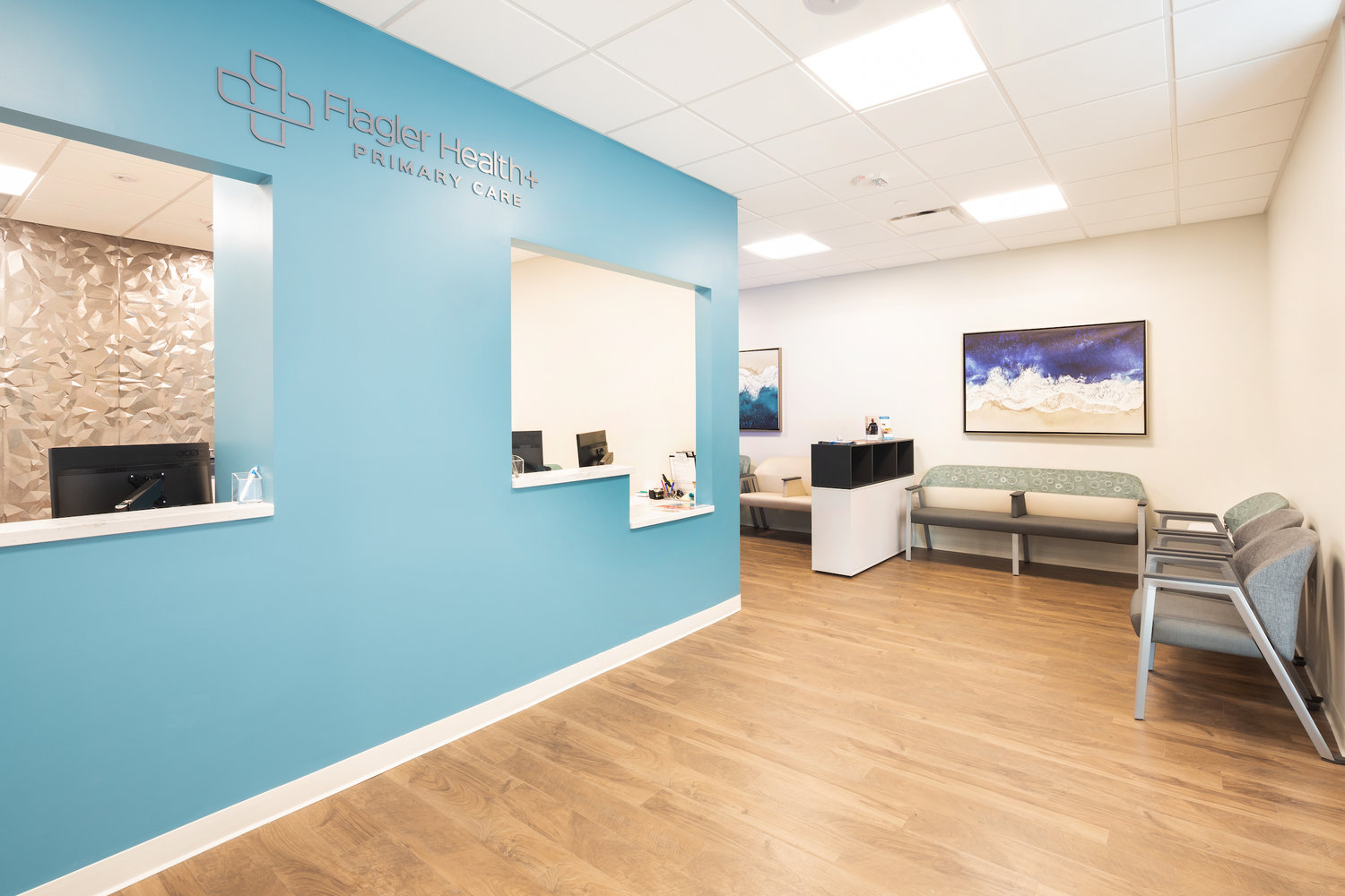 A view of the interior of the new Flagler Health+ Village at Nocatee.