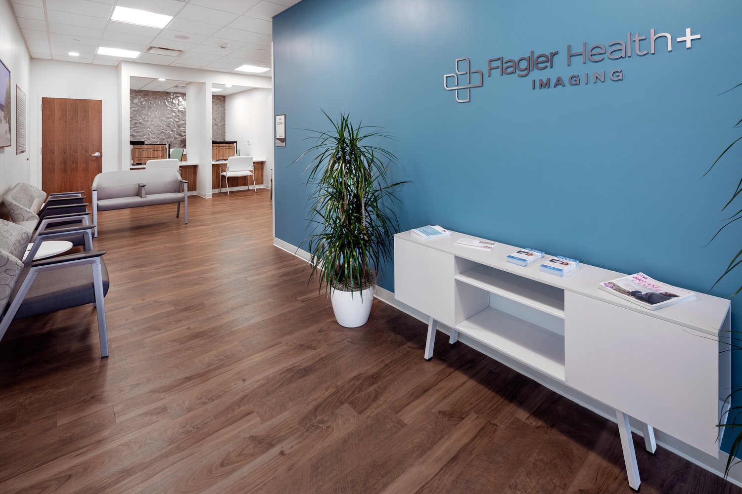 A view of one of the rooms within the Flagler Health+ Village at Nocatee.