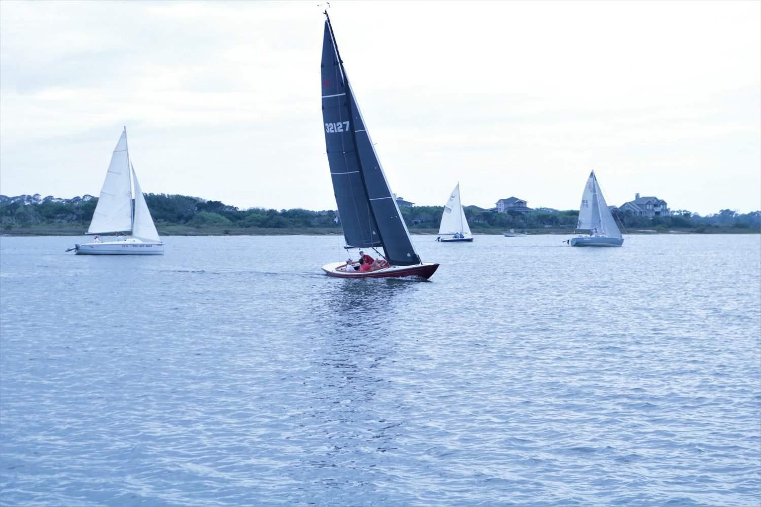 Sailboats compete in the Inshore Races on the Tolomato River for St. Augustine Race Week.