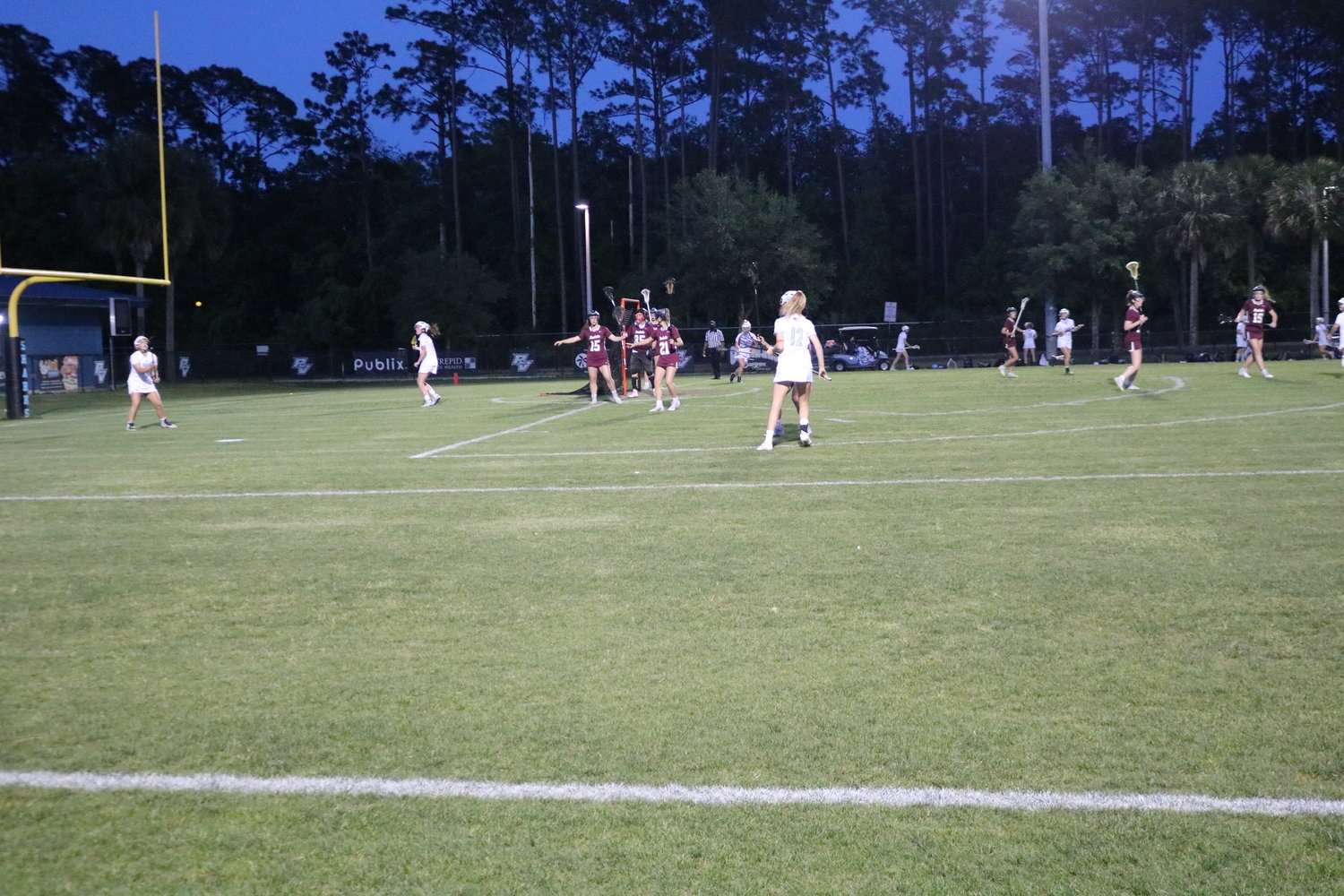 Ponte Vedra girls lacrosse plays St. Augustine in the regional semifinals on Thursday, April 22. The Sharks won 18-2 to advance to the finals.