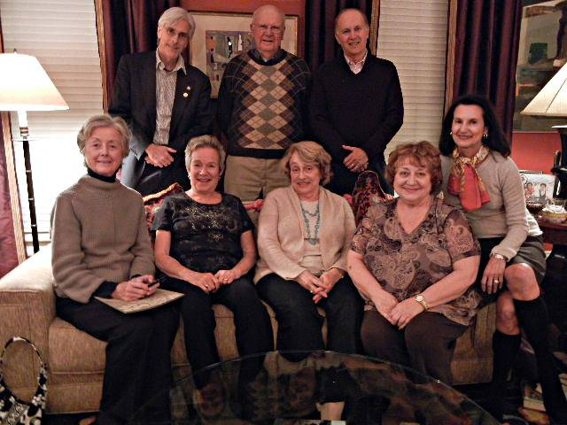 Author Edith Pearlman (front row, second from left) with members of the Providence Rotary Book Club