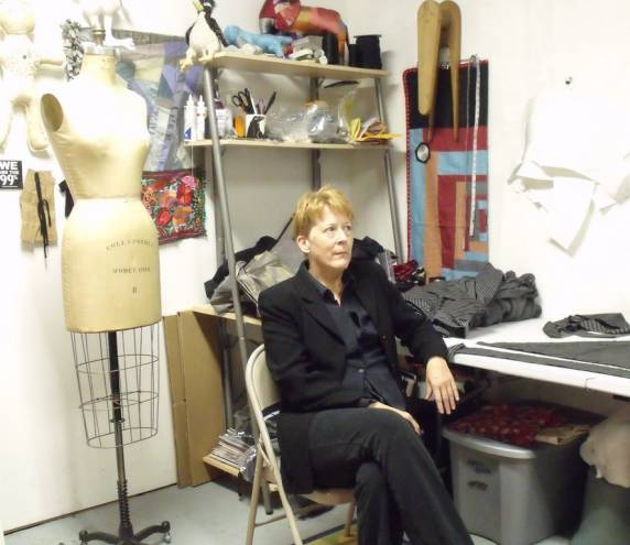 Clothing and costume designer Sarah Campbell