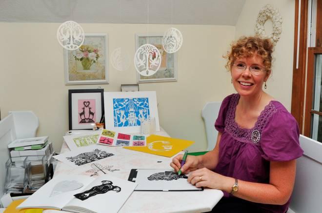 Paper cutting artist Ingrid Lavoie