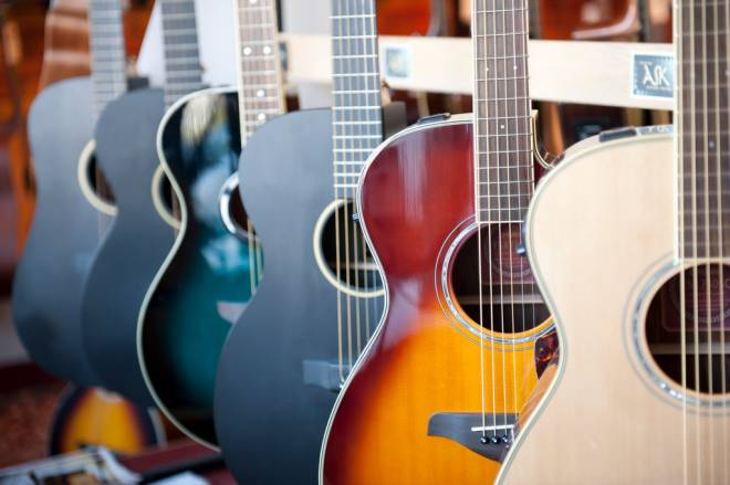 Strumming a tune at Wakefield Music