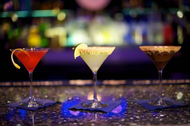 A selection of martinis at Centro