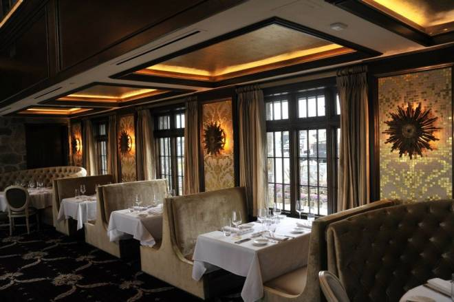 The dining room at the new Chapel Grille in Cranston