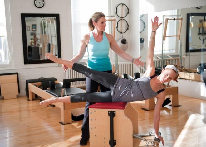 Instructor DeeDee Potts at her Pilates West Bay studio in East Greenwich