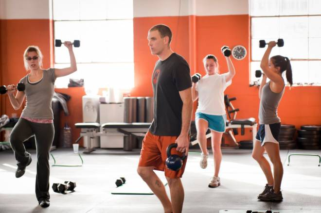 John Ford leads a high-intensity, no-nonsense Manic Training workout at his South Kingstown studio