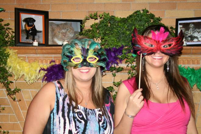 Revelers at Linden Place for the Friends of Bristol Animal Shelter's Mardi Gras Ball