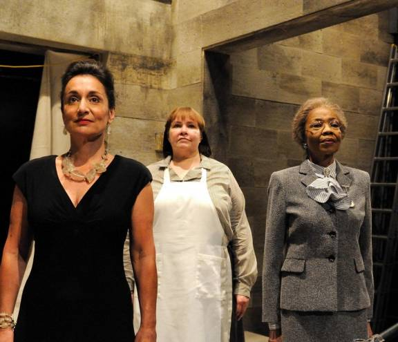 Phyllis Kay (left) stars in Sparrow Grass, part of Trinity's Three by Three in Rep