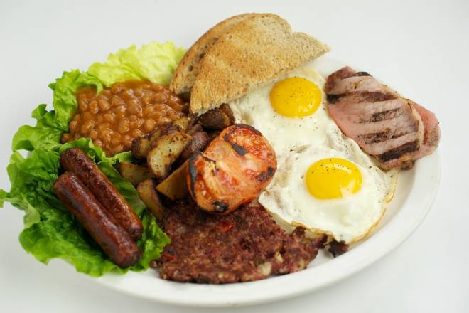 Traditional Irish breakfast is served at Tara's Tipperary Pub in Matunuck