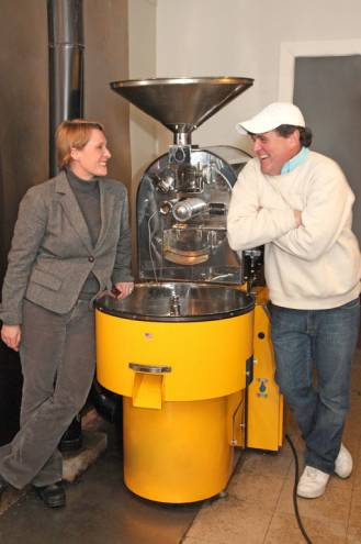 Mark and Stephanie Additon own Updike's Newtowne Coffee Roasting