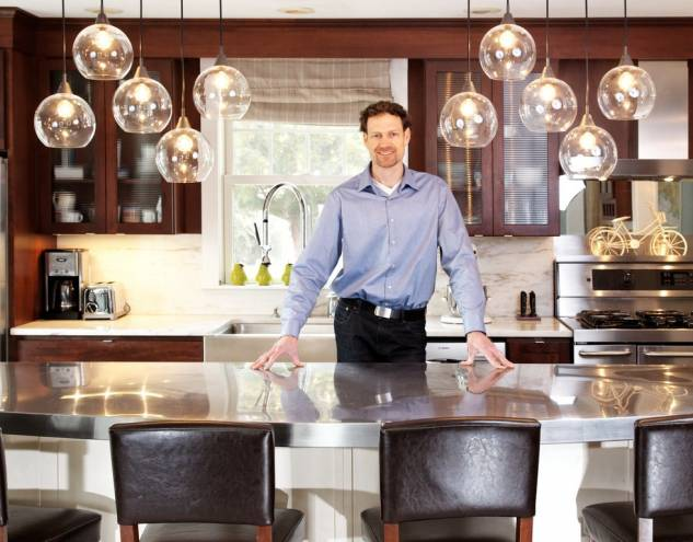 Architect Mark Lawton in his South Dartmouth home