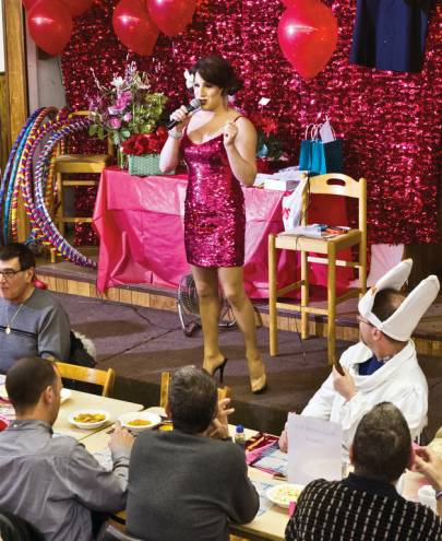 Miss Haley Star hosts Gay Bingo, an AIDS Care Ocean State event