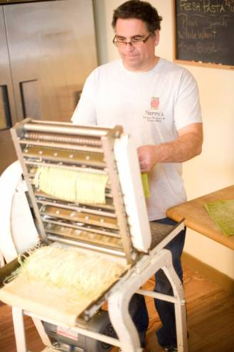 Phillip DeDucca of Nonni's Italian Kitchen and Pasta Shop in Tiverton makes his pasta fresh every day