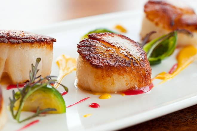 Tiverton's Boat House, whose George's Bank Scallops are picture here, participates in Newport Restaurant Week, March 23-April 1