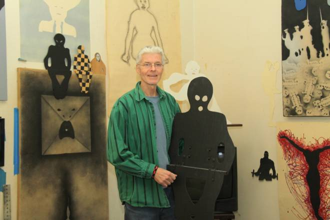 Fall River artist Tim Jewell is known for his silhouette sculptures