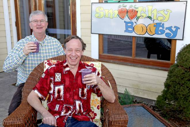 Charlie Kelley and Bart Shumaker of Smoothy Booty in Wakefield.
