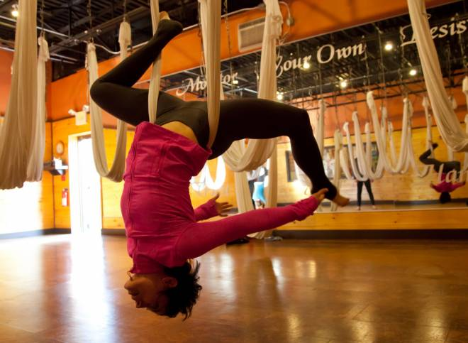 AntiGravity Yoga at Raffa Yoga in Cranston
