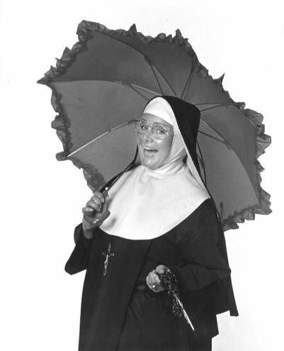 Marilyn Farina is Mother Superior in Nunsense at the Courthouse Center for the Arts