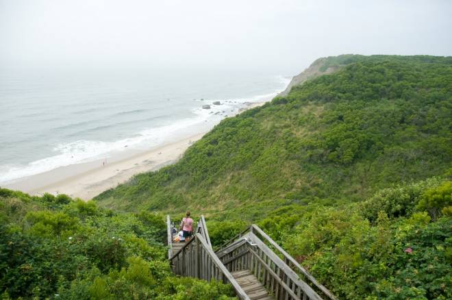 Mohegan Bluffs provide some of Block Island's most panoramic views