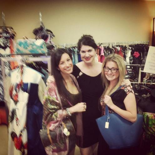 PM staffers Erin Swanson (left) and Kimberly Tingle (right) with Fabulocity owner Lisa Baillargeon (center)