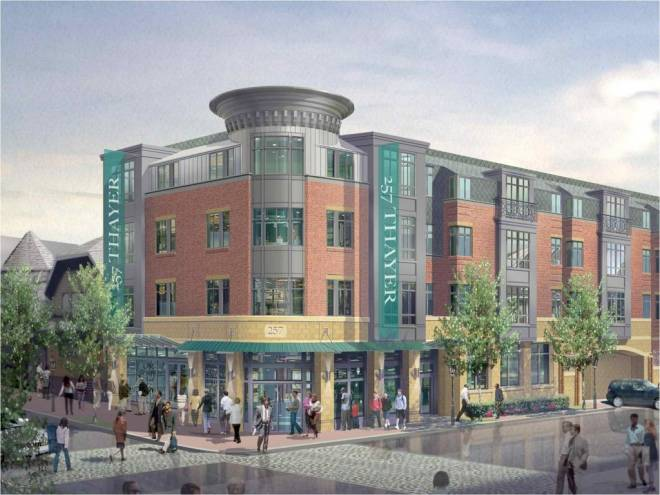 Rendering of the proposed development at 257 Thayer