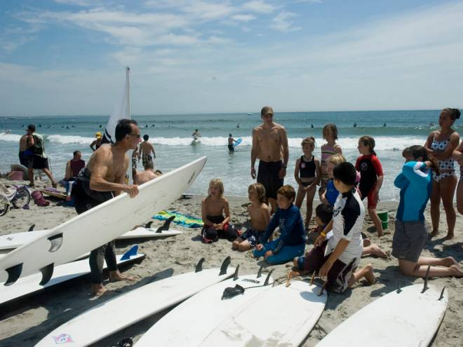 Learn to ride the waves with Peter Pan Surfing Academy on Narragansett Town Beach
