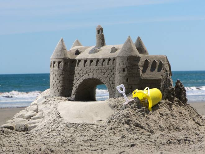 The sculptors at Sandtasia made this amazing sandcastle for us