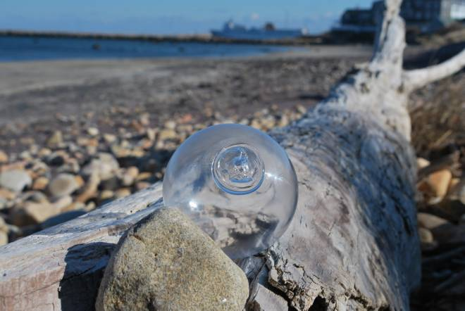 Keep your eyes peeled for one of glass blower Eben Horton's 200 orbs scattered throughout Block Island, starting June 2
