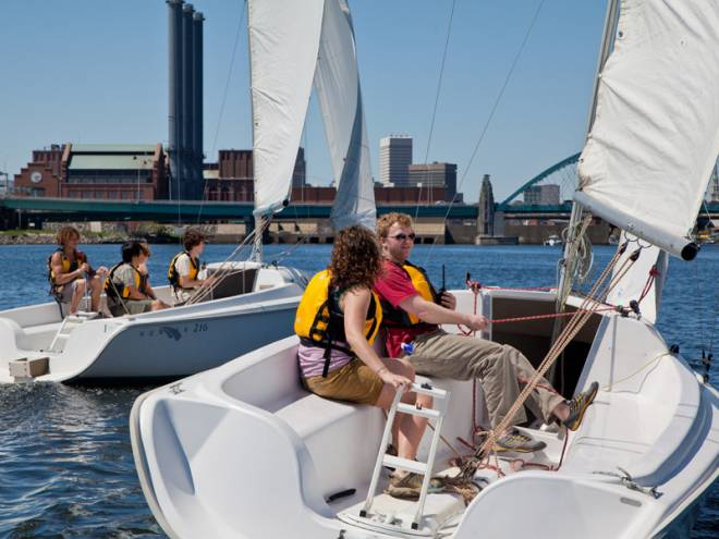 Learn the ropes at the Community Boating Center