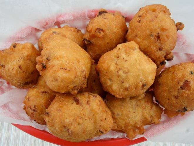 You need these: clam cakes from Evelyn's Drive In in Tiverton