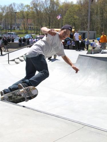 The new skate park in Tiverton