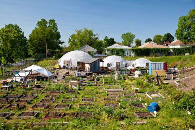 New Urban Farmers' Garden of Life at Galego Court is located in Pawtucket