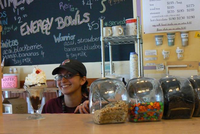 Three Sisters on Hope Street features house made ice cream
