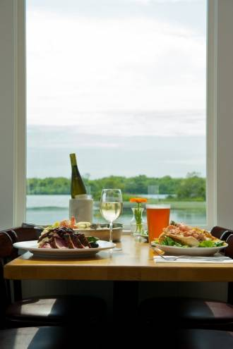 The views at Matunuck Oyster Bar are perfectly suited to the food