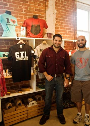 Louis Colavecchio and Sean Cullen created the Beards with Friends t-shirt line