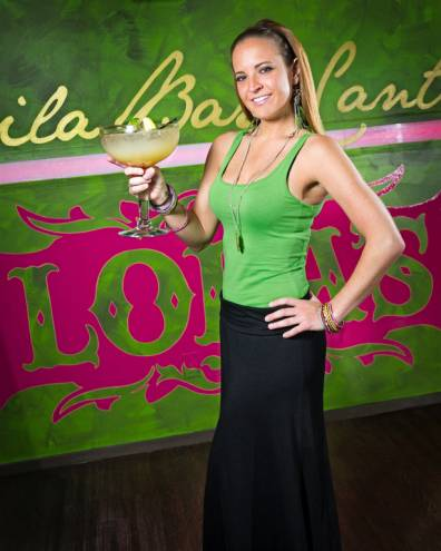 Amy DeSantis tends bar at Lola's Cantina