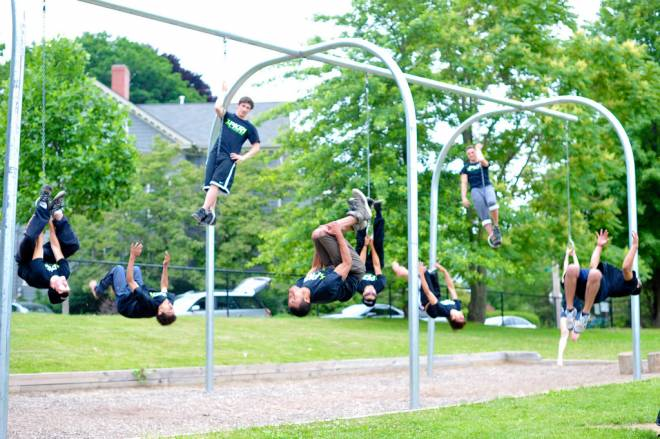 Parkour at Brown Street Park