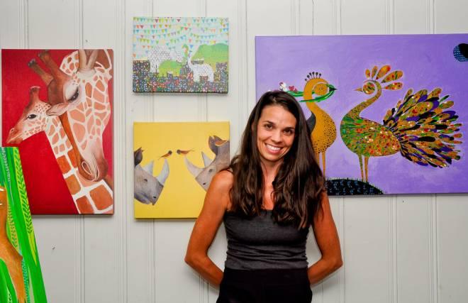 Artist Julia Riordan Scherer