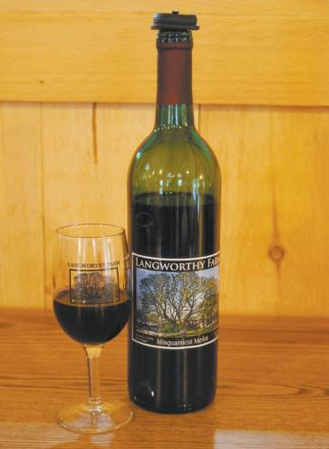 Wine from Langworthy Farm in Westerly