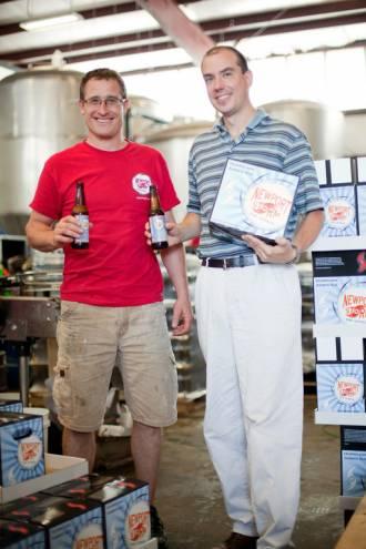 Derek Luke and Brent Ryan of Newport Storm Beer