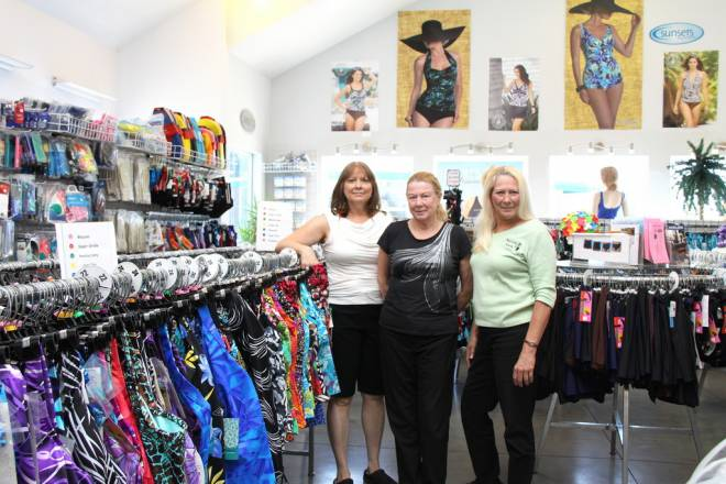 Kathy, Silvia and Karen of Beach Party Swimwear in Middletown