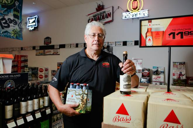 "Ray ""The Beer Guy"" Guerrero of Yankee Spirits in Swansea"