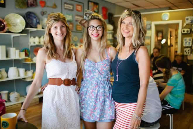 From left:  Kyla Schmigle, Bianca Jones-Pearson and Meg Jones of WeirdGirl Creations in Barrington
