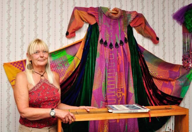 Fiber artist Jan Doyle