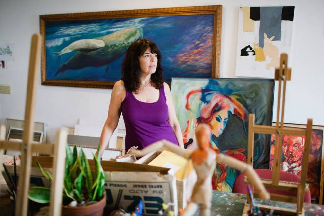 Kathy Kittel is the current owner of Don's Art Shop in Warren, but founder Don Primiano is still around